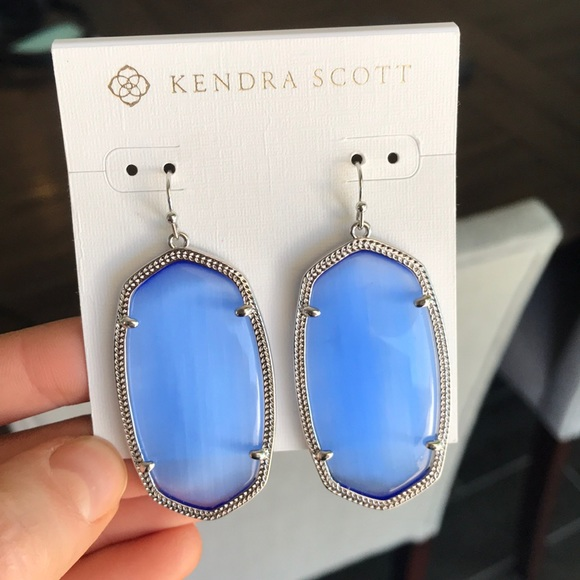 fe345c13a Kendra Scott Jewelry | Danielle Earrings Periwinkle Cats Eye | Poshmark